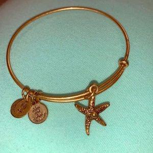 Gold Starfish Alex and Ani Bracelet